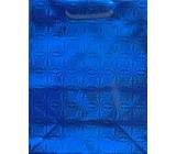 Nekupto Dárková papírová taška modrá hologram standart L THL 050 40