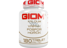 Giom ERA Calcium for healthy teeth and bones for dogs and cats 180 tablets