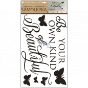 Room Decor Wall stickers with text and bow ties 60 x 32 cm