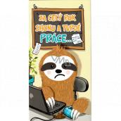 Nekupto Birthday card Sloth 116 x 220 mm 3495 K