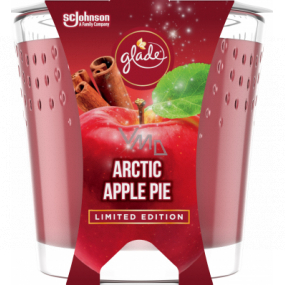 Glade Arctic Apple Pie with the scent of apple, cinnamon and nutmeg scented candle in a glass, burning time up to 32 hours 129 g