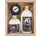 Bohemia Gifts Gentleman shower gel for men 300 ml + bath foam 500 ml + foaming bath bomb 100 g, cosmetic set