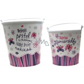 Nekupto Gift center Gift box for a flowerpot medium Wonderful friend diameter 14 cm