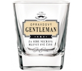 Do not Buy The Real Gentlemen's Whiskey Whiskey Glass The real GENTLEMAN lets you talk about your actions.