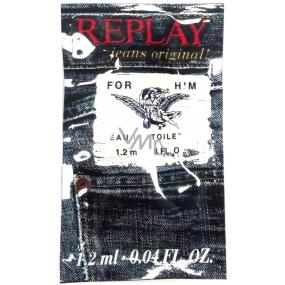 Replay Jeans Original for Him Men's Water for Men 2 ml, Vialka
