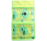 Hanging pouch green 43 x 24 cm 4 pockets