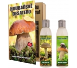 Bohemia Gifts Mushroom Ten For Mushroom Shower Gel 200 ml + Shampoo 200 ml, book cosmetic set