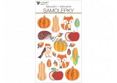 Autumn plastic stickers 14 x 25 cm