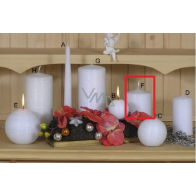 Lima Alfa candle white cylinder 80 x 100 mm 1 piece