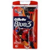 Gillette Blue 3 Special Edition razors red 3 blades for men 6 pieces