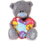 Me to You Teddy bear with heart with print 14,5 cm