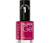 Rimmel London Super Gel nail polish 025 Urban Purple 12 ml