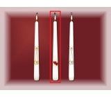 Lima Wedding Candles Red hearts candle white cone 22 x 250 mm