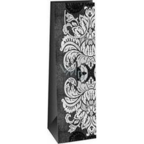 Ditipo Paper gift bag for bottle 12.3 x 7.8 x 36.2 cm gray, black, white large sheets