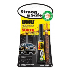 Uhu Alleskleber Super Strong & Safe universal adhesive for quick repairs 3 g