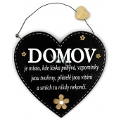 Nekupto Pets Wooden sign Home is a place where love stays 17 x 17 cm
