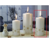 Lima Starlight candle white / gold cylinder 60 x 120 mm 1 piece