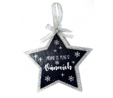 Nekupto Christmas wooden star decoration Greeting cards for Christmas 14 x 14 cm