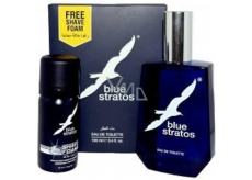 Blue Stratos Eau De Toilette 100 ml + Shaving Foam 45 ml, cosmetic set for men