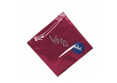 Aha paper napkins monochrome burgundy saturated 33 x 33 cm, 3-ply 20 pieces