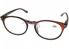 Berkeley Reading glasses +1.5 plastic brown, round glass 1 piece MC2171