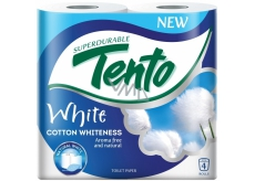 This Cotton Whiteness toilet paper white 2 ply 156 snatches 4 pieces