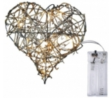 Emos Heart lighting made of wicker 20 cm, 10 LED + 30 cm power cable 1 W warm white