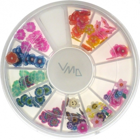 Professional nail decorations flowers color mix 1 package