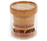 Heart & Home Skořicové koření Sojová vonná svíčka bez obalu hoří až 15 hodin 53 g