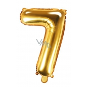 Air balloon inflatable number 7, 35 cm foil