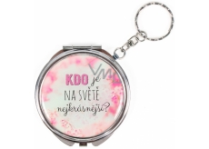 Albi Mirror - key chain with text Who is the most beautiful in the world? 6,5 cm