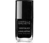 Gabriella Salvete Longlasting Enamel Nail Polish 01 Deep Black 11 ml