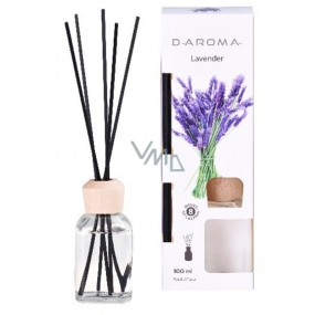 D-Aroma- Lavender - Lavender aroma diffuser with sticks for gradual release of fragrance 100 ml