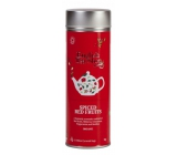 Česky Tea Shop Bio Spicy red fruit 15 pieces of biodegradable pyramids of tea in a recyclable tin jar 30 g, gift set