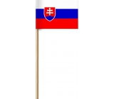 Arch Paper flag of the Slovak Republic on a stick 42 cm 1 piece