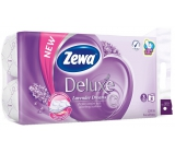 Zewa Deluxe Aqua Tube Lavender Dreams perfumed toilet paper 3 ply 150 pieces 8 pieces, roll that can be washed away