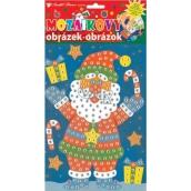 Mozaikový hrací set Vánoce Santa v botech 23 x 16 cm