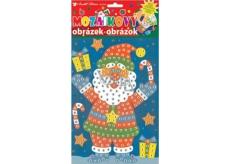 Mosaic Christmas Santa set in boots 23 x 16 cm