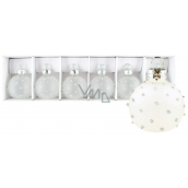 Glass milk flasks with dots set of 4 cm 6 pieces