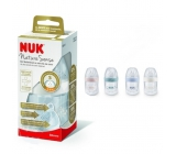 Nuk Nature Sense Bottle nursing plastic latex teat 0 - 6 months, teat size S 260 ml