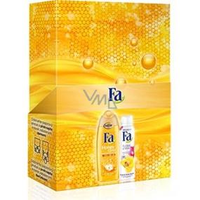Fa Honey Elixir shower gel 250 ml + Floral Protect Orchid & Viola antiperspirant deodorant spray 150 ml, cosmetic set