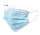 Disposable drape, face mask blue 1 piece