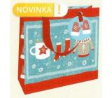 Nekupto Gift paper bag luxury 18 x 16 cm Winter clothes Christmas WLIS