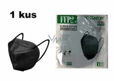HO-Comfort Respirator oral protective 5-layer FFP2 face mask Black 1 piece