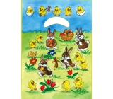 Angel Easter plastic bag Bunnies on a meadow 32 x 20 x 4 cm