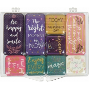 Albi Set of epoxy magnets Texts 9 pieces