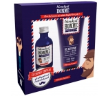 Blonded Beard Oil 50 ml + Beard and Face cleansing gel, 150 ml gift set for men with a fresh smell of citrus and juniper.