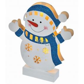 Emos Lighting wooden snowman 23 × 4 × 26.5 cm, 5 LEDs, warm white