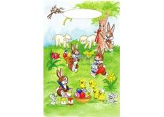 Angel Easter plastic bag Bunnies under the tree 32 x 20 x 4 cm