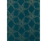 Zöwie Gift wrapping paper 70 x 150 cm Christmas Luxury Noble Stars with embossed kerosene stars